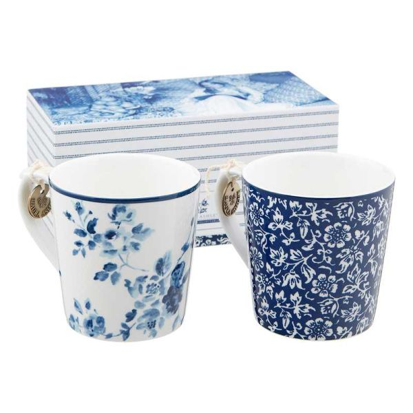 Laura Ashley Porzellanbecherset Alyssa und blaue Rose