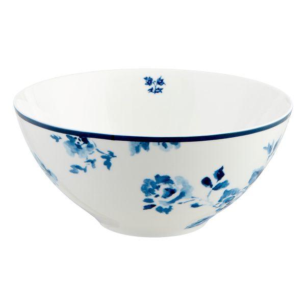Laura Ashley Müsli-Schale blaue Rose 16 cm
