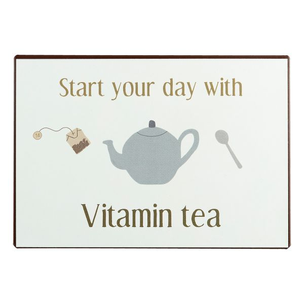 Dekoschild Start your day with vitamin tea